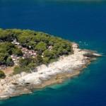 Camping Stoja Pula luchtfoto