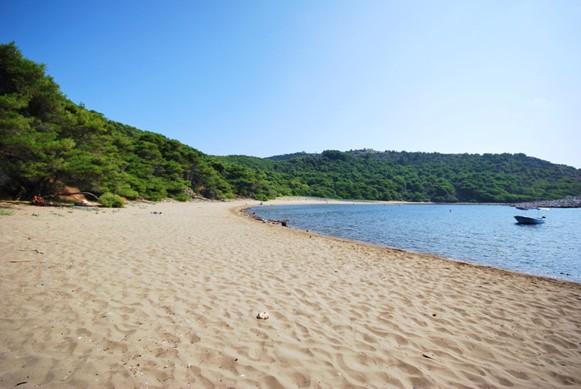 Saplunara strand op eiland Mljet