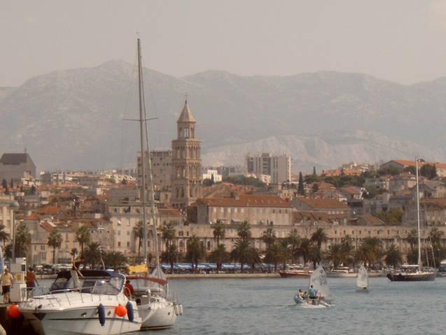 Uitzicht over Split