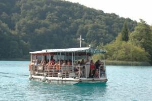 Plitvice bootje over Kozjak meer