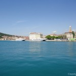 uitzicht over centrum Split Dalmatië Kroatië