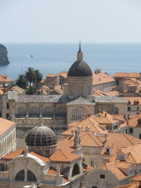Rode daken van Dubrovnik