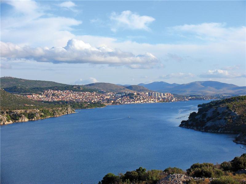 Uitzicht vanaf hotel Panorama Sibenik