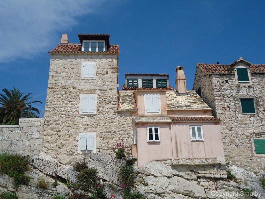 Oude huisjes in Split