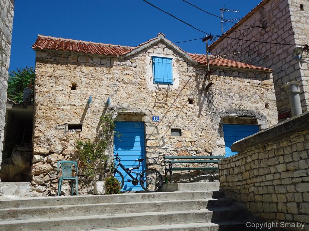 Traditioneel stenen huisje