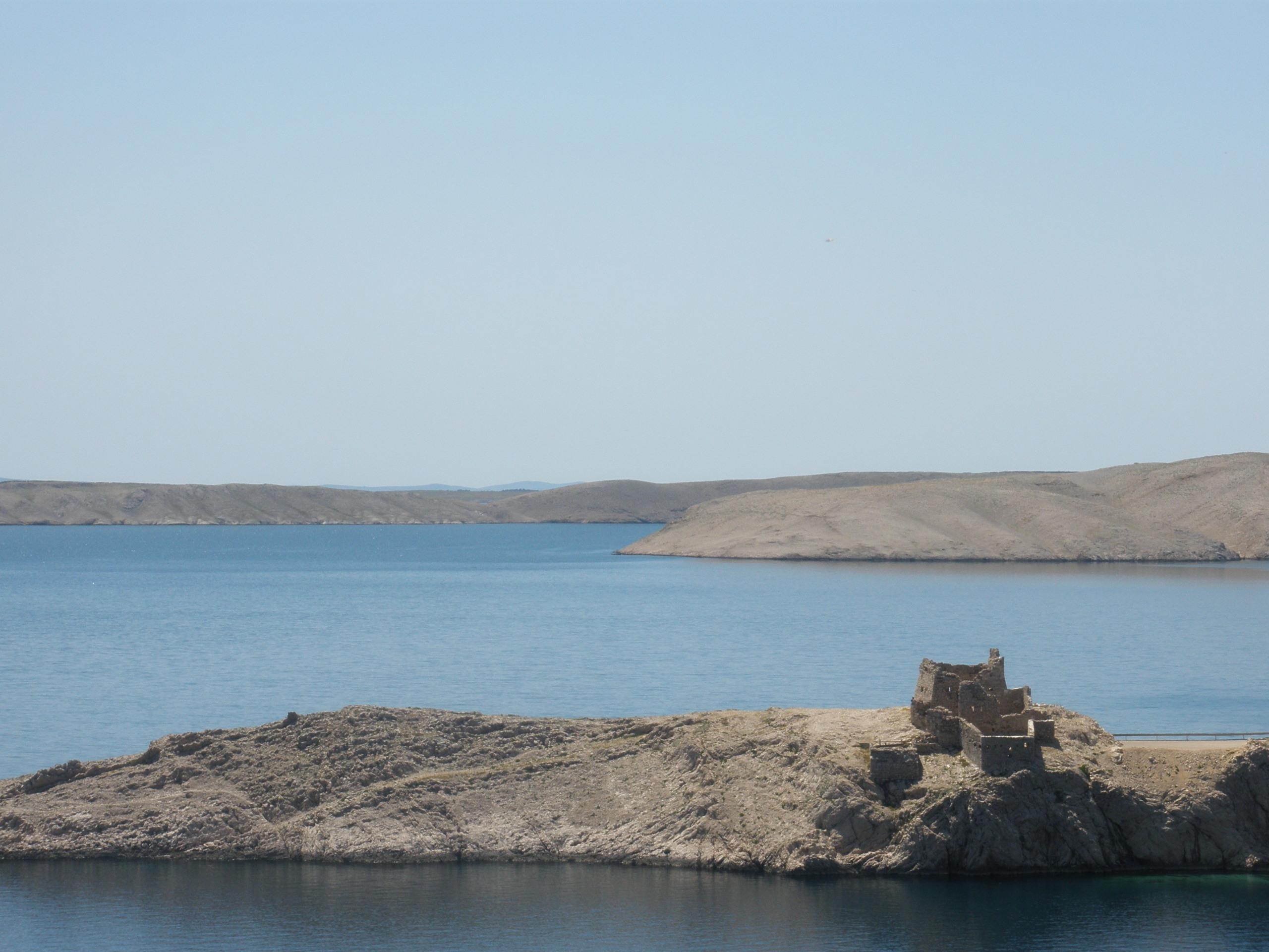 Ruine op eiland Pag