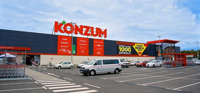 Supermarkten in Kroatie