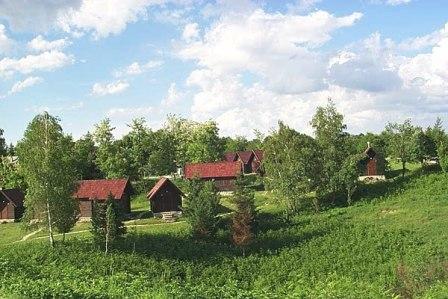 Huisjes op camping Korana (Plitvice)