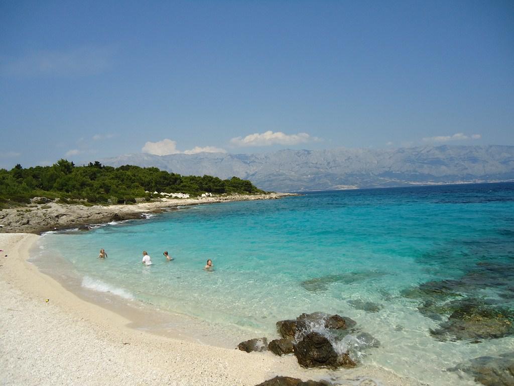 Stranden eiland Brac