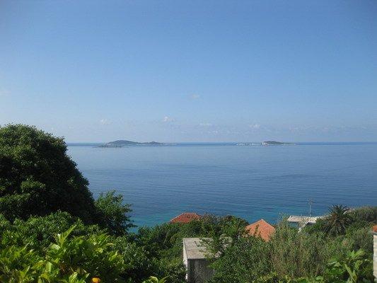 Uitzicht vanaf camping Kate in Mlini