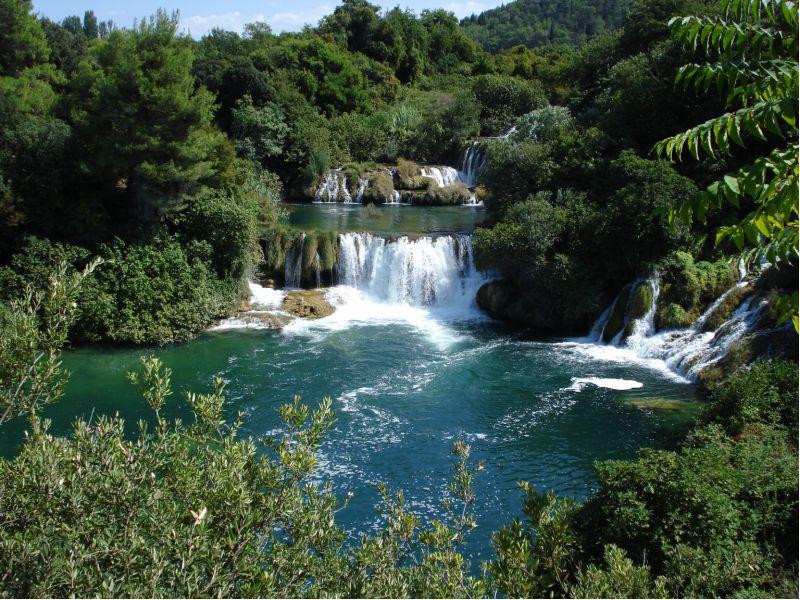 De prachtige Krka watervallen