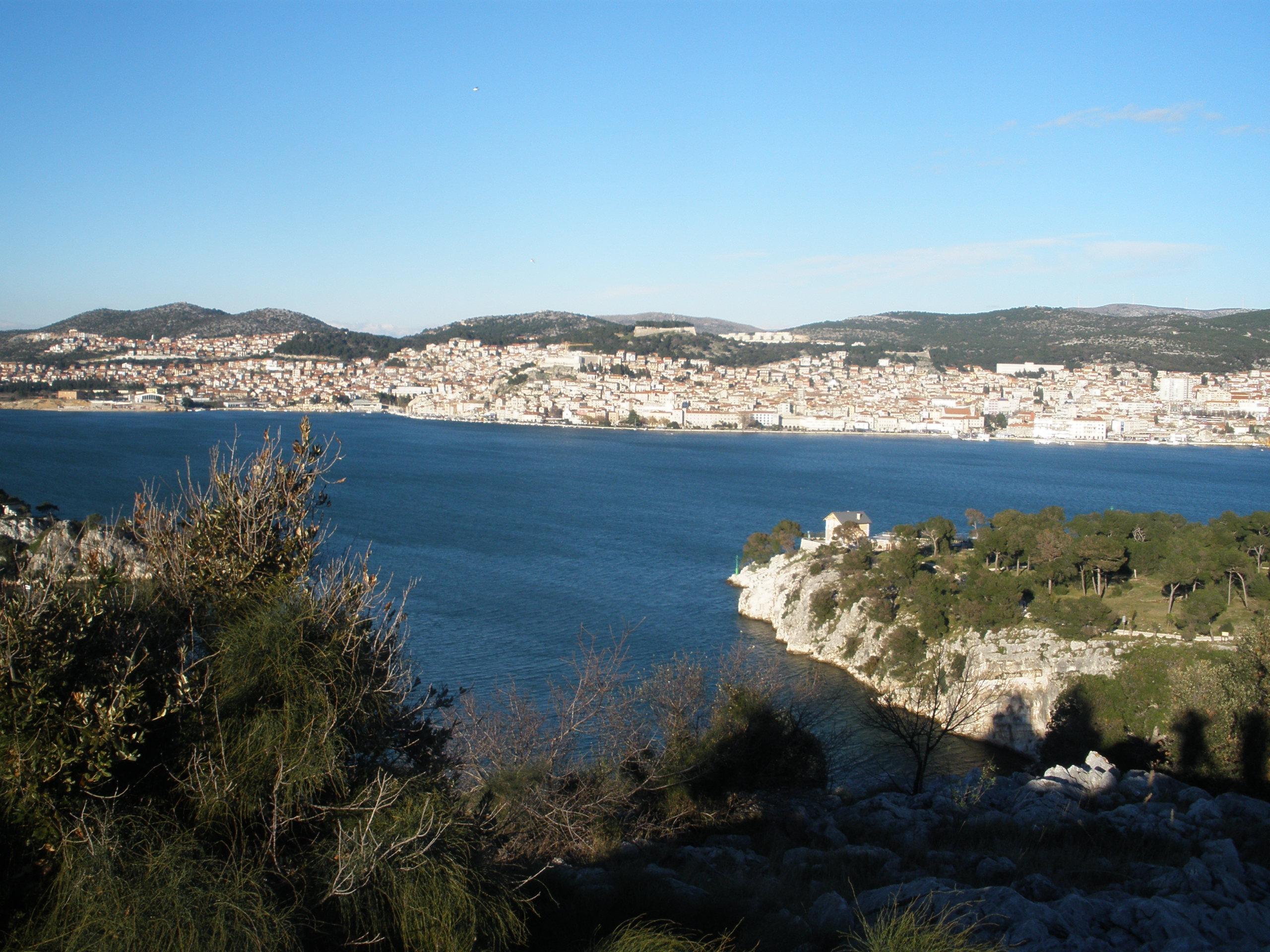 Uitzicht over Sibenik