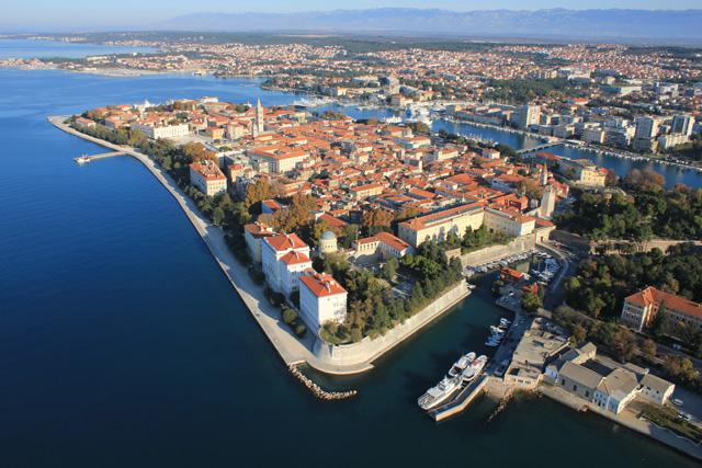 Stranden van Zadar