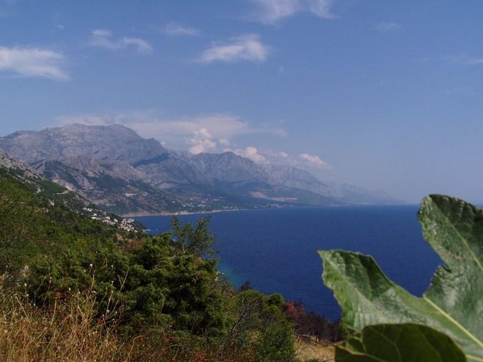 Uitzicht over Makarska