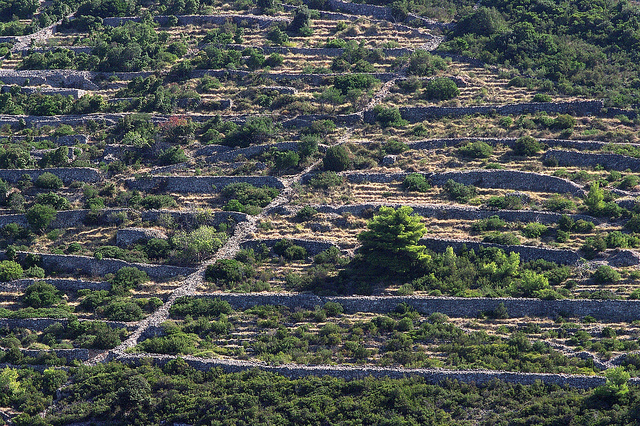 Stapelmuren in Kroatie