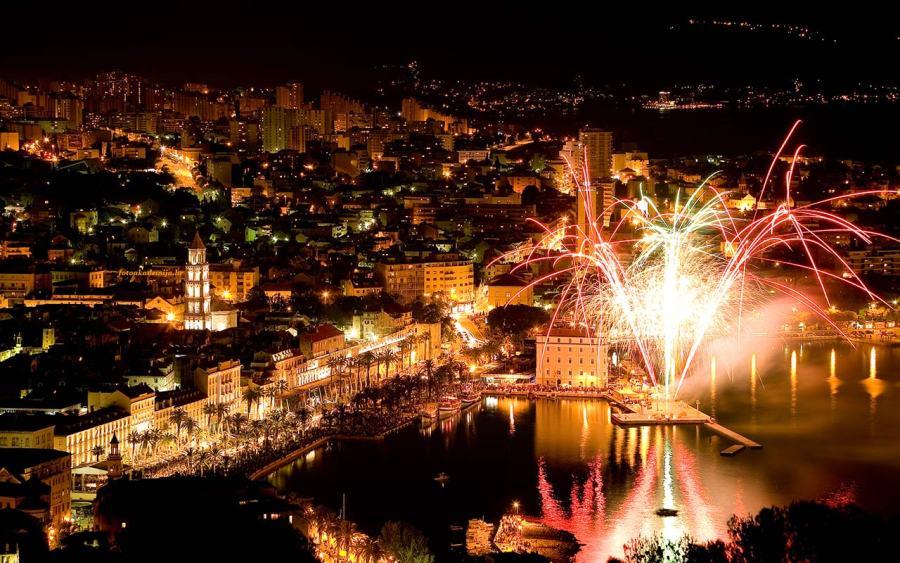 Oud en nieuw in Split Kroatie