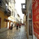 Winkelstraat in Porec
