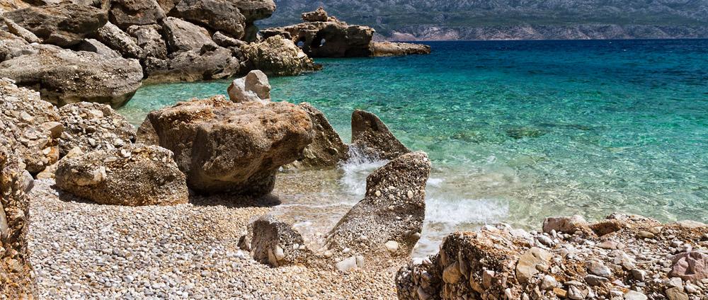 Natural rock beaches in Porec