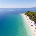 Punta Rata strand in Brela, Makarska