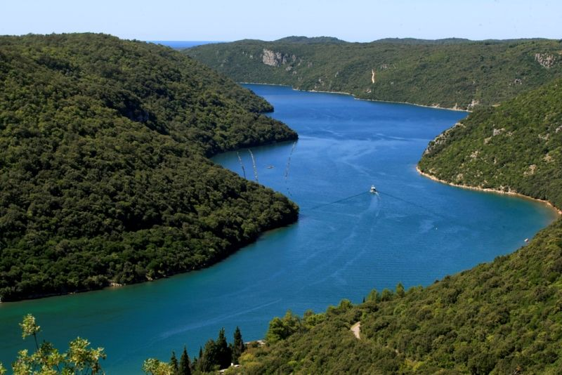 Lim kanaal in Istrie