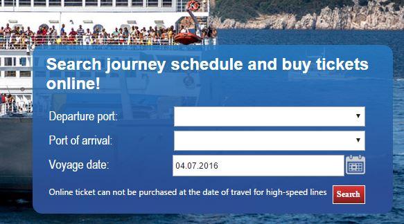 Online veerboot tickets kopen Kroatie