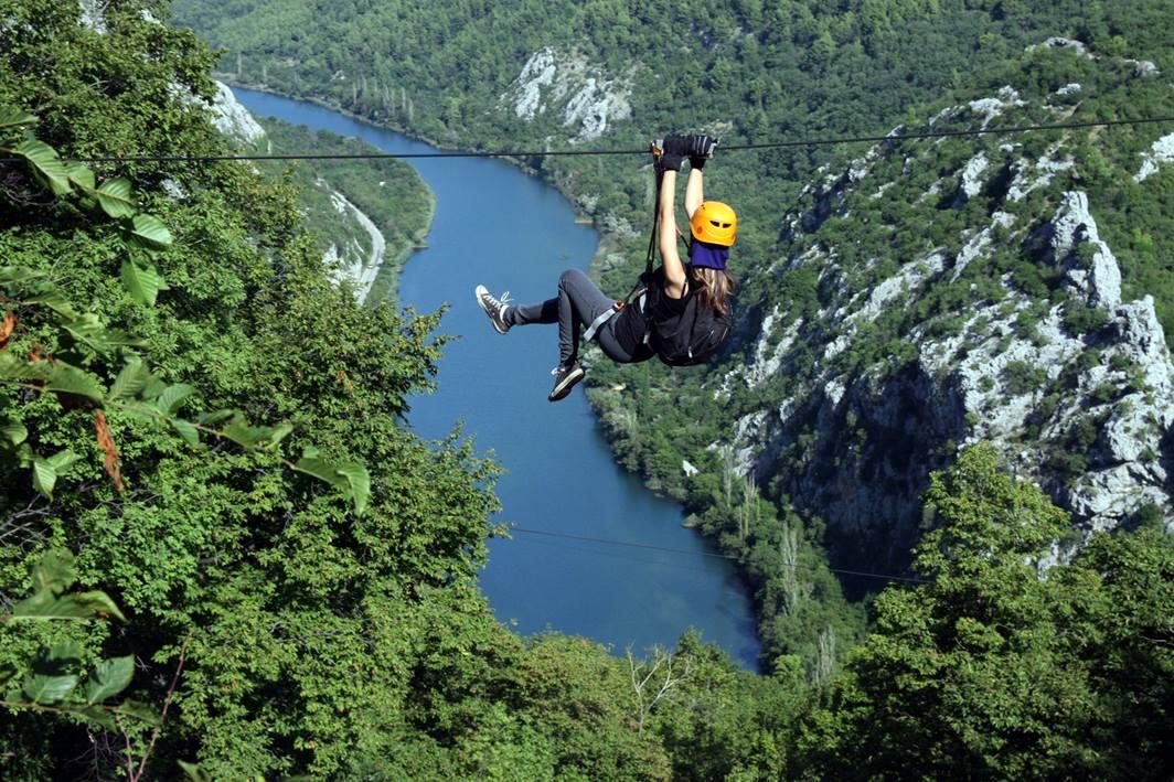 Adrenaline sporten in Kroatie - zip line