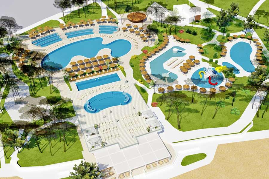 Nieuw waterpark bij camping Zaton, Zadar