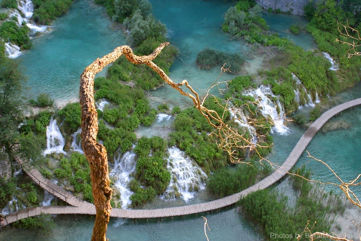 Uitzicht over Plitvice