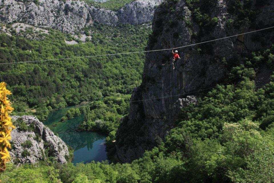 Zipline Omis, Kroatie