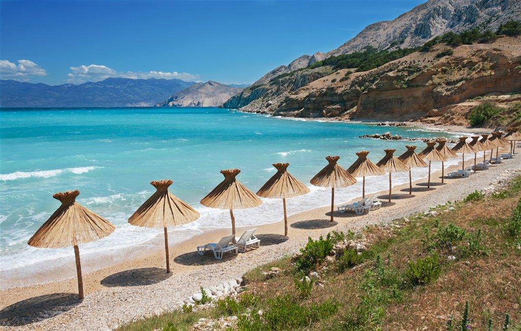 Baska strand op eiland Krk