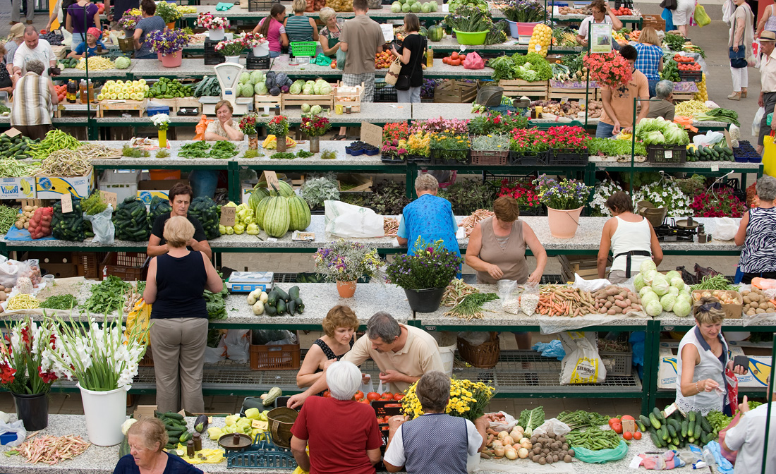 De markt in Kroatie