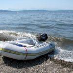 Varen met klein bootje in Kroatie