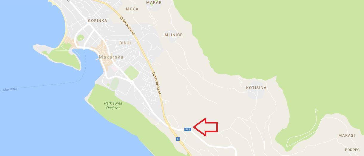 Plattegrond Makarska Biokovo