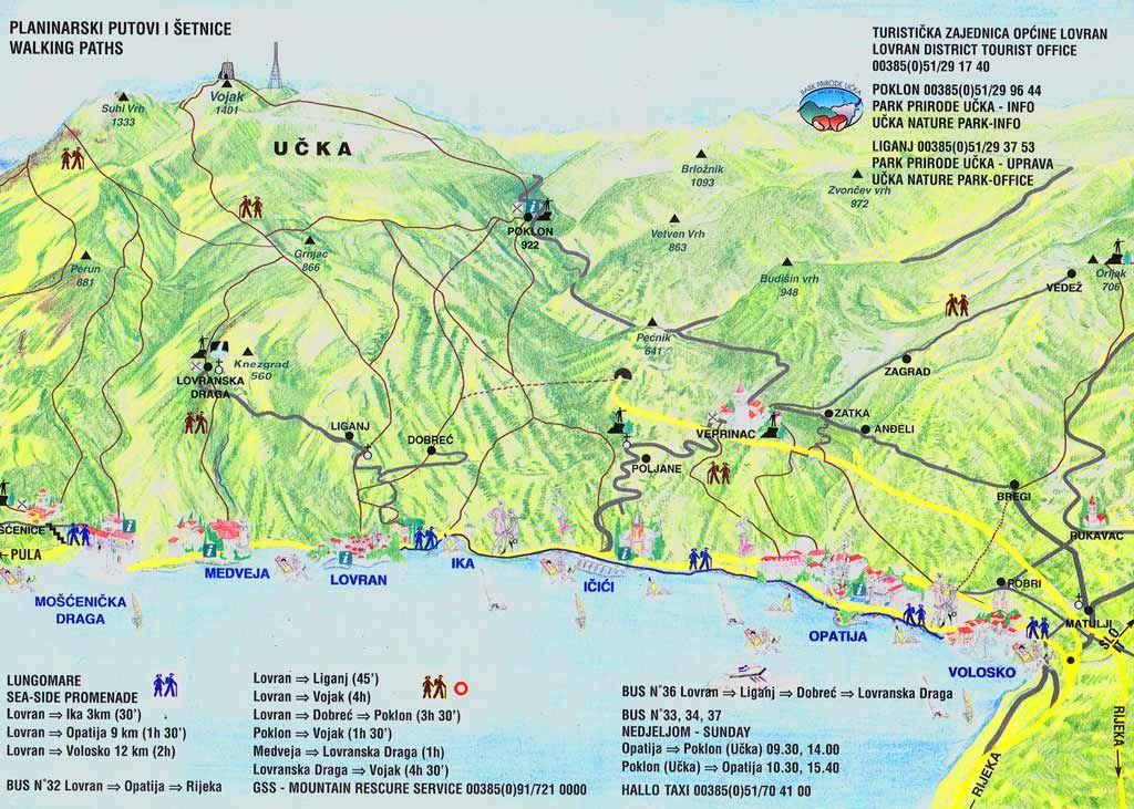 Routes door natuurpark Ucka