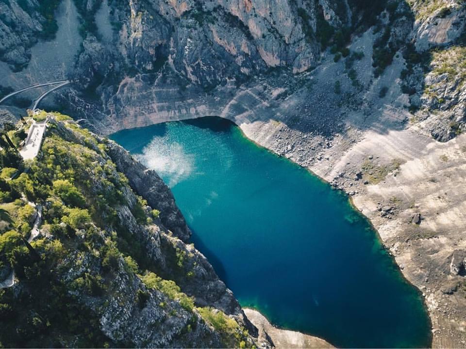 Blauwe meer Imotski