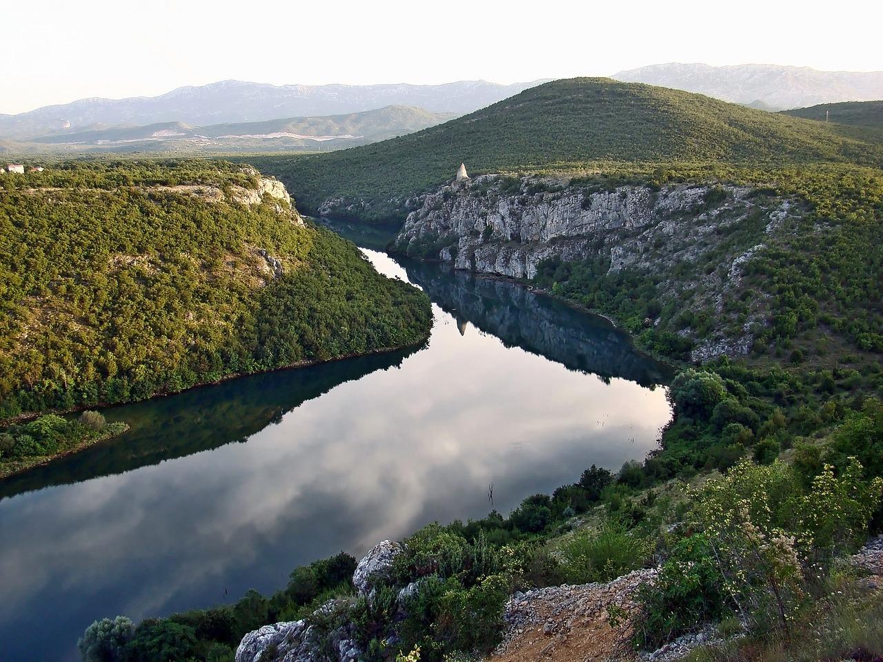 Cetina rivier binnenland Dalmatie