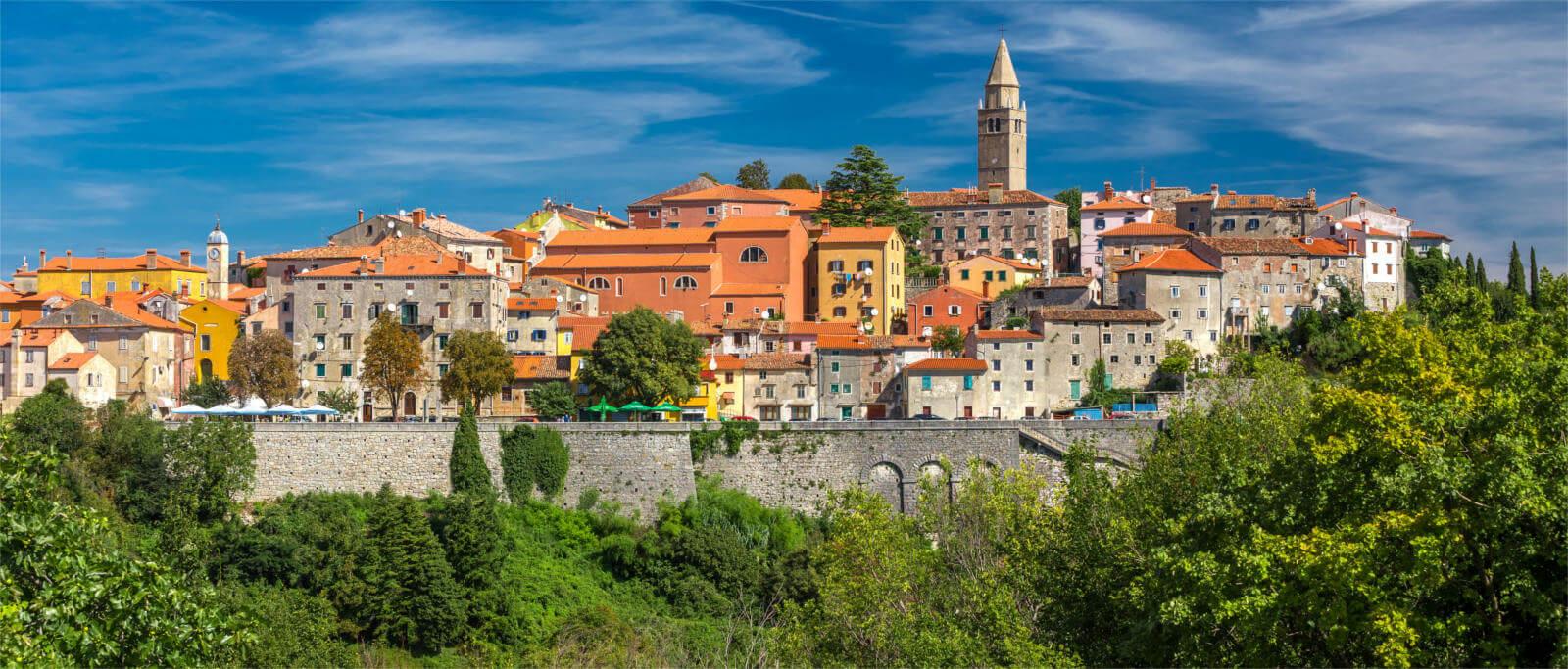 Labin heuveldorpje Istrie