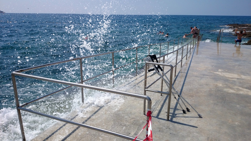 Gehandicapten strand Kroatie