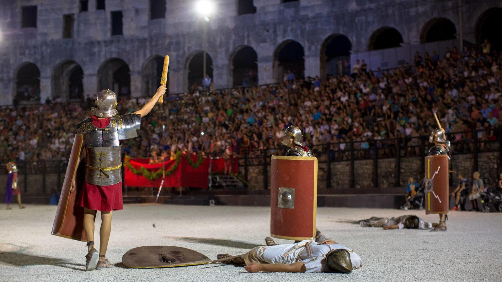 Spectacvla Antiqva gladiatoren gevecht Pula