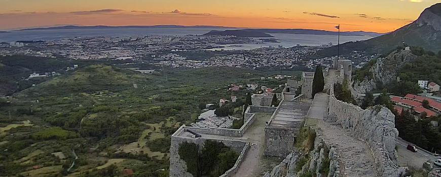 Uitzicht vanaf het fort van Klis