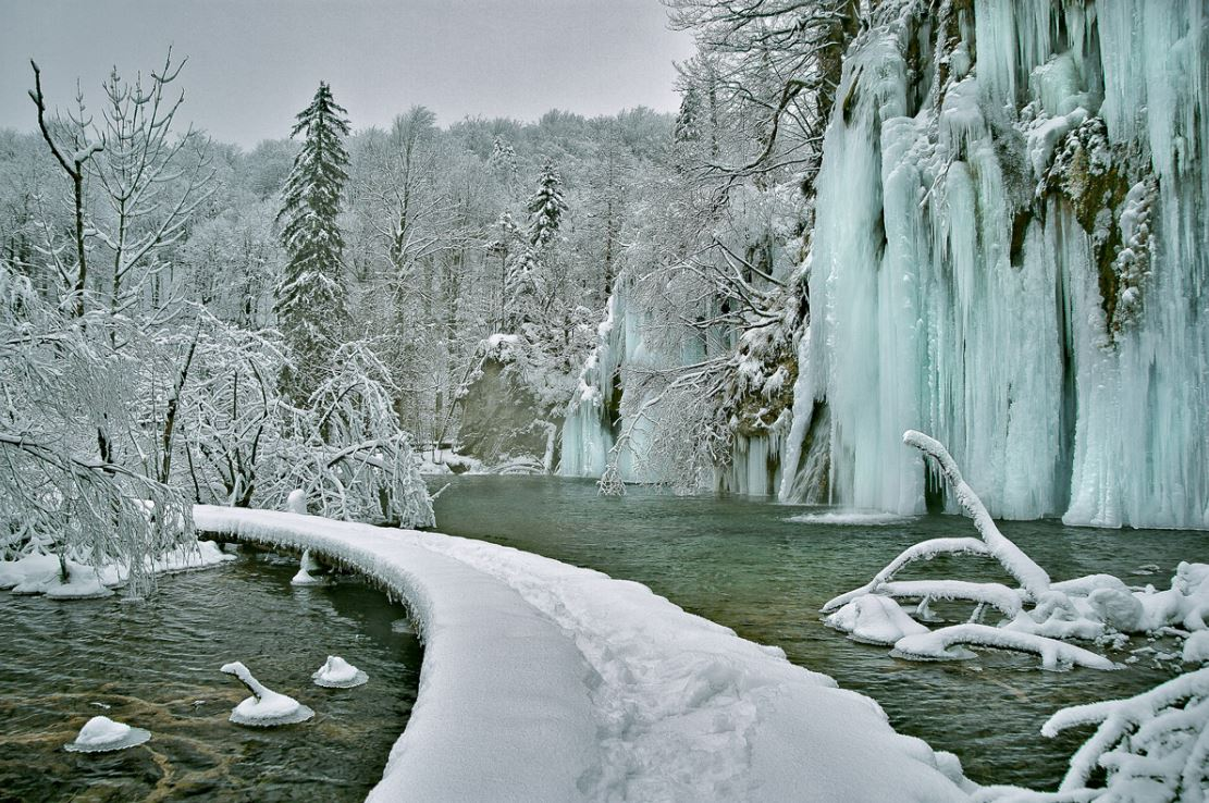 Plitvice in de winter