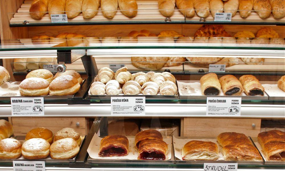 Broodjes van de bakker in Kroatie