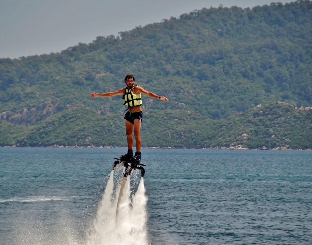 Flyboarding in Kroatie