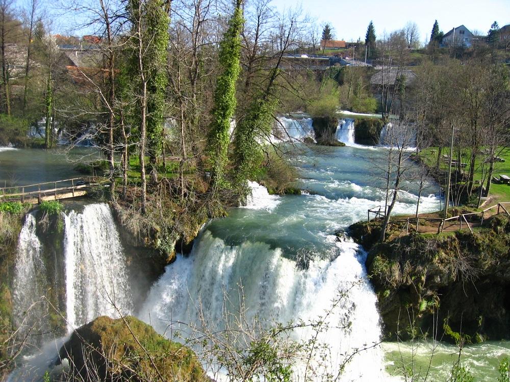 De watervallen van Rastoke