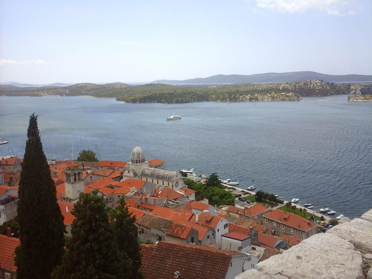 Kathedraal vanaf het Sveti Mihovil fort