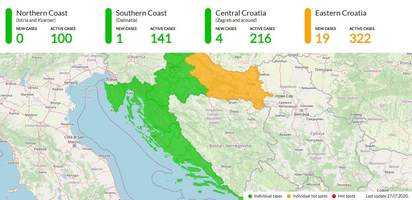 Corona update Kroatie